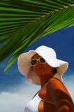 Woman in panama Stock Photos