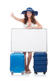 Woman in panama  preparing for vacation Stock Photo