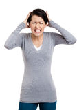 Woman is in panic Royalty Free Stock Photo