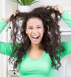 Woman in panic Royalty Free Stock Images