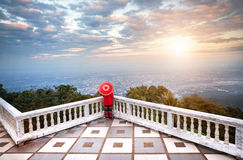 Woman and Panorama of Chiang Mai Stock Photos