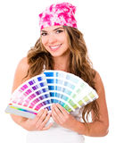 Woman with a Pantone Stock Photos