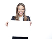 Woman with paper Stock Image