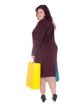 Woman with paper bags Stock Photos
