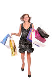 Woman with paper bags Royalty Free Stock Images