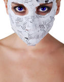 Woman in paper mask Royalty Free Stock Photo