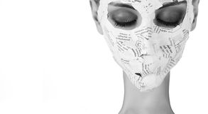 Woman in paper mask Stock Photo