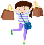 Woman with paper shopping bags Stock Photo