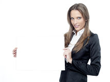Woman with papers Royalty Free Stock Photography