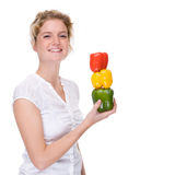 Woman with paprika Stock Photography