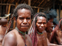 The woman of a Papuan tribe Royalty Free Stock Images