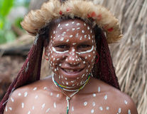 The woman of a Papuan tribe Royalty Free Stock Photo