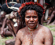 The woman of a Papuan tribe Royalty Free Stock Image