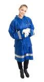 Woman paramedic Stock Photo