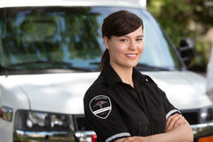 Woman Paramedic royalty free stock photography