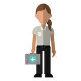 Woman paramedic worker hospital emergency. Vector illustration eps 10 Stock Photography