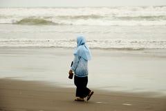 Woman on Parang Endog Beach Stock Photos