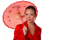 Woman with parasol Stock Image
