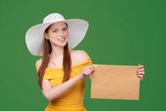 Woman with parcel Royalty Free Stock Photography