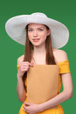 Woman with parcel Stock Photos