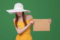 Woman with parcel Royalty Free Stock Photo