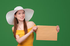 Woman with parcel Stock Images
