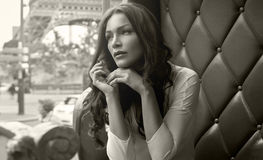 Woman in Paris Royalty Free Stock Image