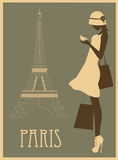 Woman in Paris. Stock Photo