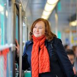 Woman in Parisian metro Royalty Free Stock Images