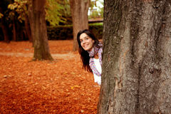 Woman in a park Royalty Free Stock Image