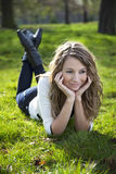Woman in park Royalty Free Stock Photography