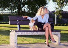 Woman in park. Stock Photos