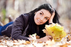 Woman in the park Stock Image