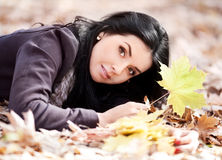 Woman in the park Royalty Free Stock Photos