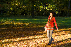 Woman in park Stock Photos