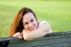 Woman in the park. Woman in a urban park royalty free stock photography