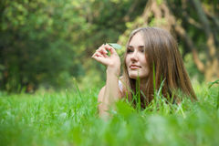 Woman at park Royalty Free Stock Photography