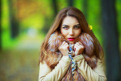 Woman in the park Stock Photography