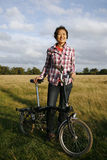 Woman in the park with bicycle - 09 Stock Photography