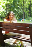 Woman In Park Stock Photography