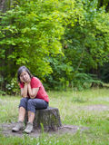 Woman in park Stock Photo