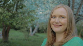 Woman in the Park stock footage