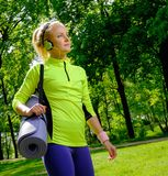 Woman in a park Stock Photography