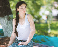 Woman in the park. Royalty Free Stock Photos