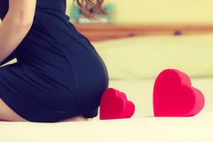 Woman part body bottom with heart. Stock Image
