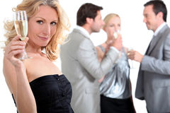 Woman at a party Stock Photo