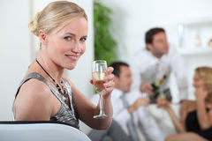 Woman at a party Royalty Free Stock Image