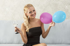 Woman on the party Stock Image