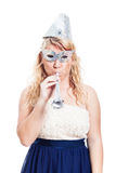 Woman in party costume Royalty Free Stock Photo