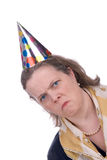 Woman in party hat stock photos